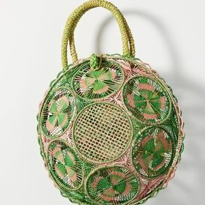 Anthropologie Guadalupe Designs Spring Basket Bag